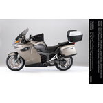 BMW K 1300 GT, panniers, tankbag, large topcase, tinted windscreen (10/2008)