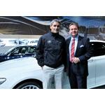 Russell Coutts, BMW ORACLE Racing CEO und Skipper sowie Erfinder und Namensgeber der RC44 Klasse und Dr. Gerhard Pils, GF BMW Austria GmbH (11/2008)