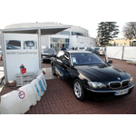 UN Climate Conference COP 14 in Poznan/Poland: The BMW Hydrogen 7 with hydrogen internal combustion engine is official shuttle car for the conference (12/2008)