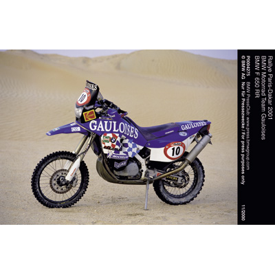 rallye paris dakar 2001 bmw motorrad team gauloises bmw f 650 rr. Black Bedroom Furniture Sets. Home Design Ideas