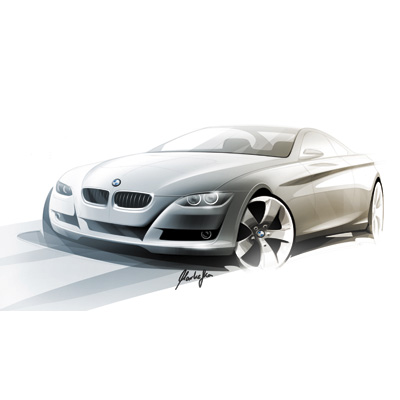 The new BMW 3 Series Coupe: design sketch  (06/2006)