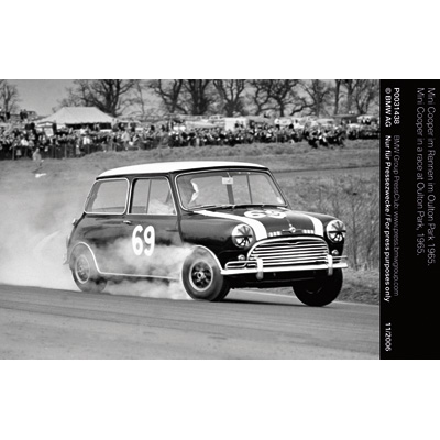 Mini Cooper in a race at Oulton Park, 1965  (11/2006)
