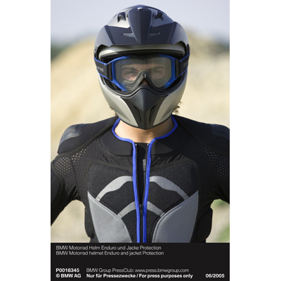 bmw motorrad helm enduro und jacke protection 06 2005. Black Bedroom Furniture Sets. Home Design Ideas