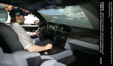 Nick Heidfeld BMW Sauber F1 Team Driver 2007 in the M3 Simulator at the IAA in Frankfurt Germany.