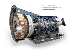 BMW ActiveHybrid 7, Electric motor, Hydraulic torque converter and 8-speed automatic transmission (08/2009)