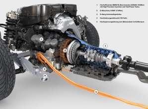 BMW ActiveHybrid 7, BMW V8-Benzinmotor, E-Maschine und 8-Gang Automatikgetriebe (08/2009)