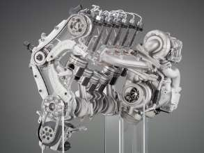 BMW Inline 6-cylinder Diesel Engine with TwinPower Turbo and 2000bar piezo injectors. Skeleton Display (06/2009)