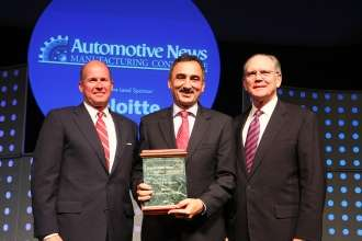 Brian Murphy, Director - Strategic Clients, Deloitte; Josef Kerscher, President, BMW Manufacturing Co; Peter Brown, Editorial Director and Associate Publisher, Automotive News at the bi-annual Automotive News Manufacturing Conference (from left to right( (06/2009)
