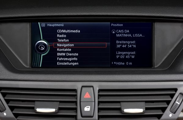 BMW X1 iDrive Control Display (07/2009)