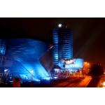 Videobespielung von BMW Welt und BMW Museum zum Launch von BMW i (02/2011).