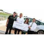 B-roll footage of BMW i3 car and scholarship donation presentation with Hunter Mahan at the 2013 BMW Championship.