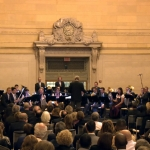 BMW hosted Munich Philharmonic Orchestra for concert in Vanderbilt Hall, Grand Central Terminal in New York City.