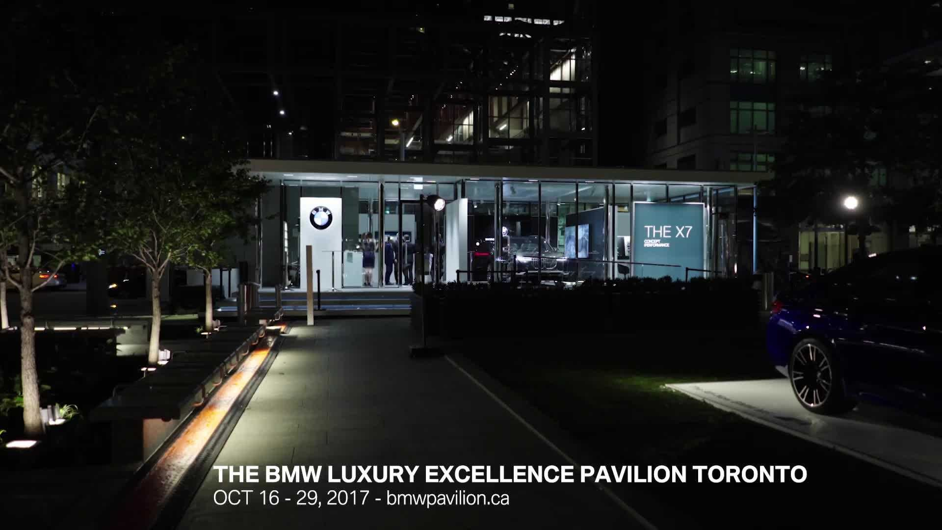 the bmw luxury excellence pavilion is constructed for its north