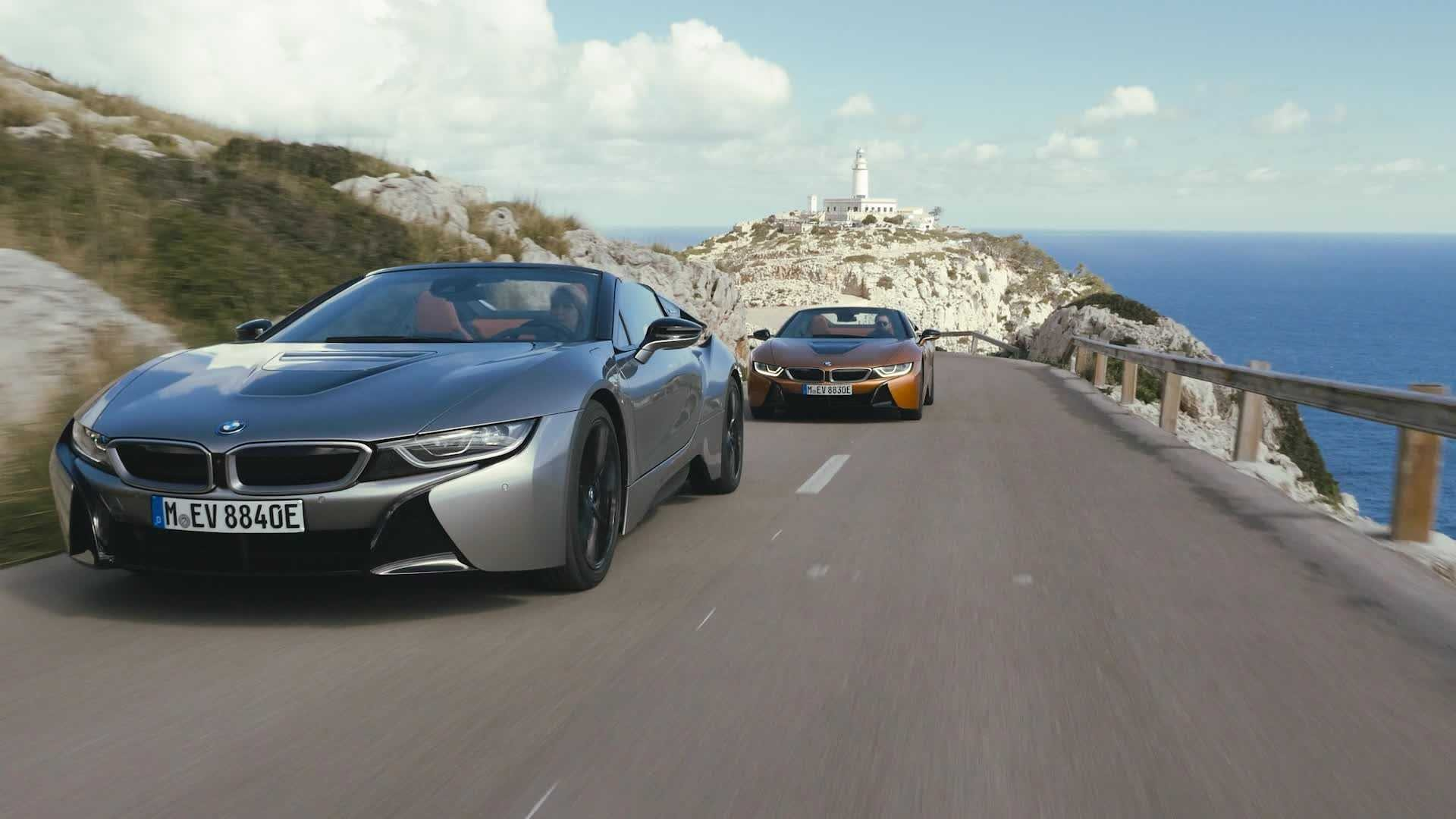 bmw i8 roadster on location
