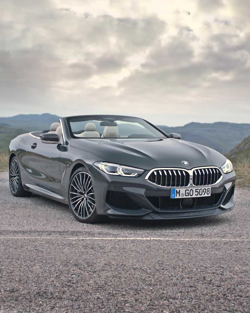 The New Bmw 8 Series Convertible In Colour Dravit Grey Metallic And