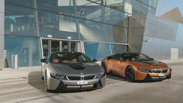 """Handover of 18 of the first BMW i8 Roadsters in the strictly limited """"First Edition"""" at BMW Welt in Munich and first tour to the Concorso d'Eleganza at the Lake Como."""